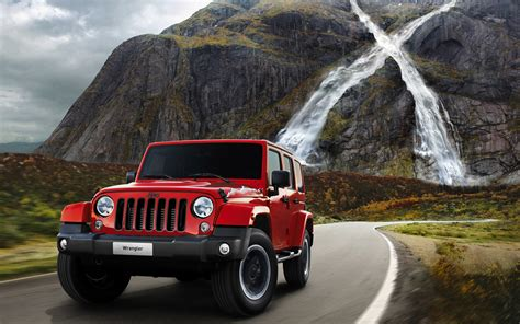 Red Jeep Wrangler Wallpaper 49743 2560x1600 Px