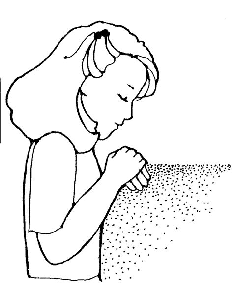 little girl praying coloring page free clipart little girl praying clipartxtras