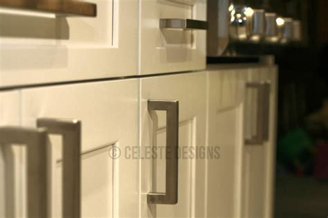 bar pulls for kitchen cabinets square bar pulls on white kitchen cabinets by celeste