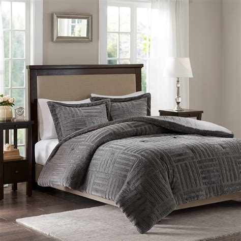 fur comforter sets premier comfort arctic fur down alternative comforter mini