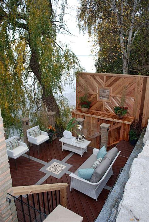 Patio Design Ontario This Luxurious Multi Level Deck Overlooking Lake Ontario