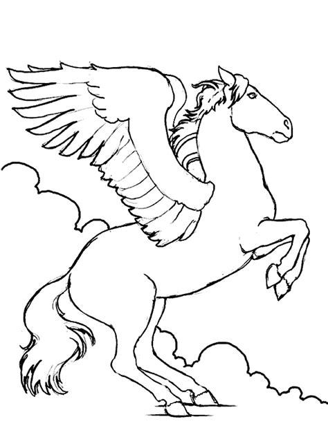 coloring pictures of flying horses dibujos para colorear de pegaso plantillas para colorear