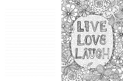 live coloring live laugh a journal to write color and create