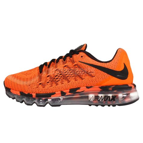 nike air max 2015 premium orange black mens cushion