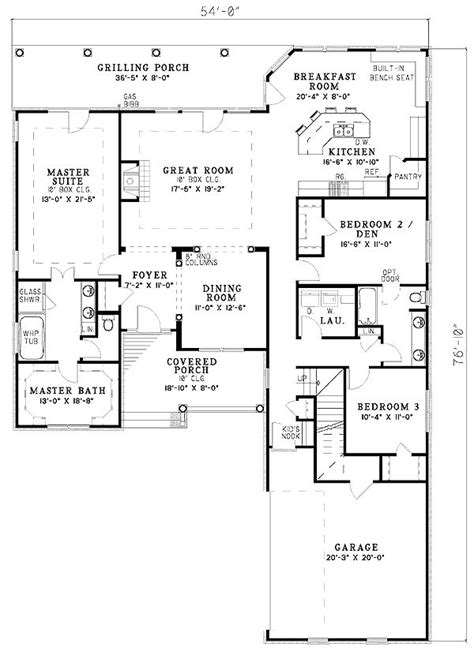 split floor plans split bedroom plan dream house floor plans pinterest
