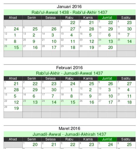 kalender islam  tersedia  diunduh blog alhabib