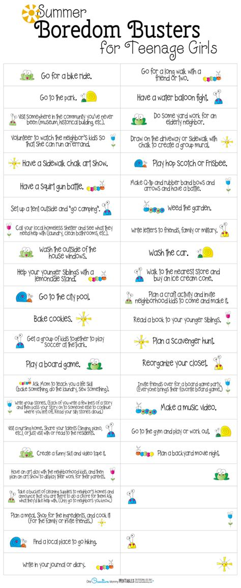 printable games for tweens summer boredom busters for teens onecreativemommy com