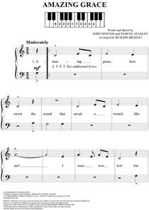 amazing testo amazing grace sheet for piano and more