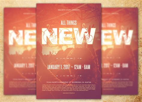 templates church all things new church flyer template inspiks market