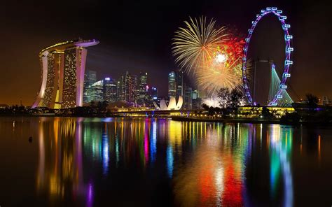 new year 2015 singapore singapore fireworks wallpaper 2560x1600 21923