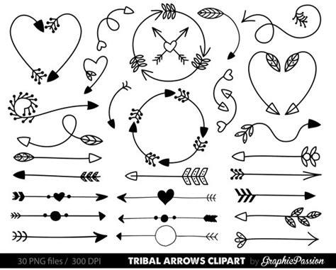 archery doodle arrows clip tribal arrow clip archery