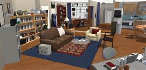 Homebyme the big bang theory wohnung in 3d homebyme