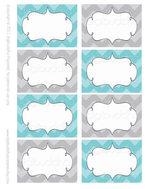 printable templates labels ava modern chevron candy buffet food mailing labels cards