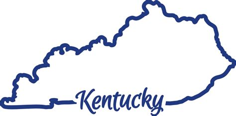 kentucky map outline kentucky state outline vector pictures to pin on