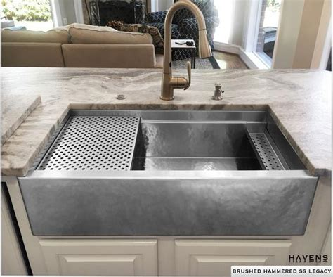 Copper and Stainless Steel Farmhouse Sinks   Havens Metal