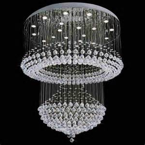 Chandeliers For Home Brizzo Lighting Stores 42 Quot Chateaux Modern Foyer Chandelier Mirror Stainless Steel Base