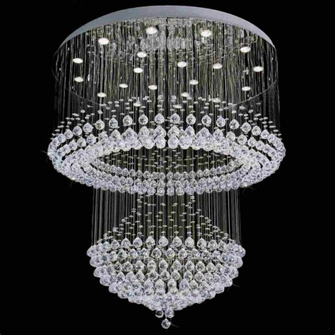 Chandelier Picture 1 394 10 42 Quot Chateaux Modern Foyer Chandelier Mirror Stainless Steel Base 12 Lights