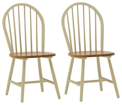 Rubberwood Windsor Dining Chair Set Of 2 Traditional Rubberwood Dining Chairs