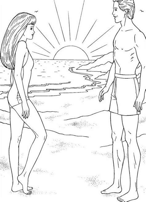 barbie surfer coloring pages free coloring pages of barbie surfer