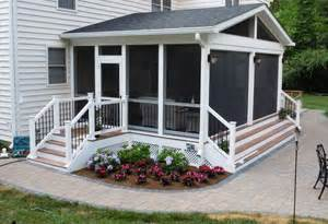 Creating Outdoor Living Spaces - screened porch ideas maryland screened porch design amp installation md