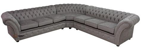 Corner Chesterfield Sofas Chesterfield Swarovski Balmoral Corner Sofa 3 Seater Corner 3 Seater Perla Illusions Grey Velvet