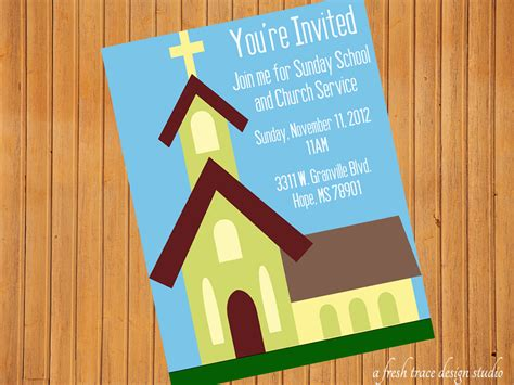 printable invitations to sunday school items similar to church sunday school invitation