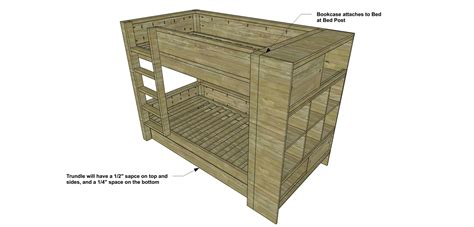 Trundle Bed Plans by Free Diy Furniture Plans How To Build A Duet Bunk Bed