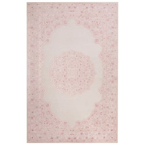 7 6 x 9 6 rug everyly medallion pink white area rug 7 6 quot x 9 6 quot free shipping today overstock