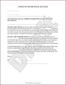 Letter Not Renewing Lease Word Landlord Not Renewing Lease Letter To Tenant Designproposalexle