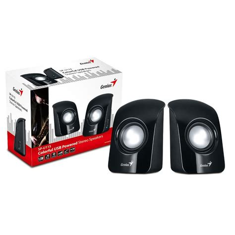Stereo Usb Speaker Genius Colorful genius speaker sp u115 black usb power 31731006100 smart systems amman