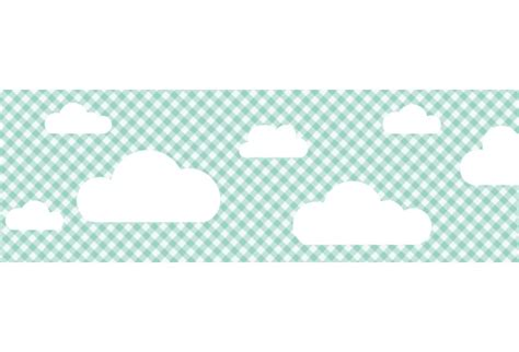 bordure kinderzimmer wolken lovely label selbstklebende bord 252 re wolken mint kariert