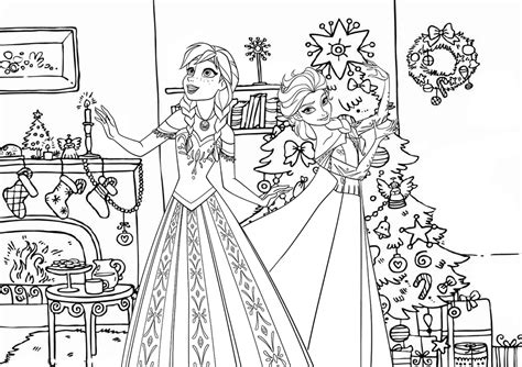 elsa christmas coloring page frozen christmas house twistermc