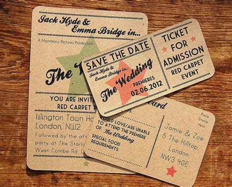 cinema wedding stationery range by a bird b on wedding stationery yourweek 9a1a10eca25e - The Range Wedding Invitations