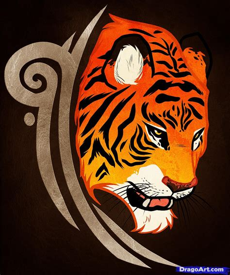 how to draw a tiger tattoo design tiger tattoo design