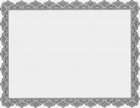 pattern frame template blank gray business certificate templates printable