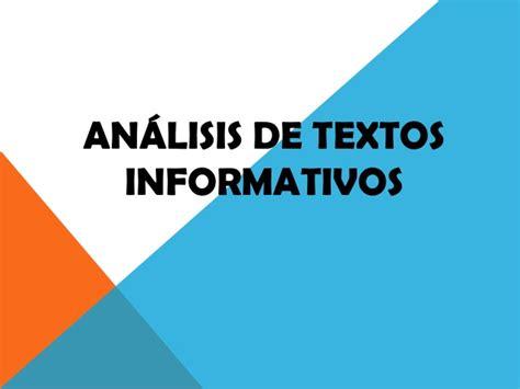 analisis de textos en an 225 lisis de textos informativos