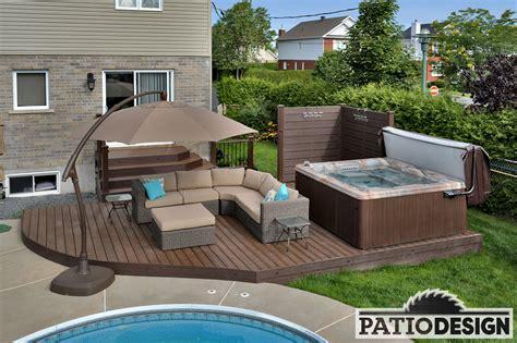 design a patio patio design construction design de patios pour un spa