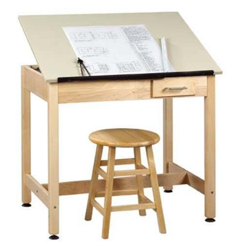 Small Drafting Desk Shain Dt 3a37 Drafting Table W 1 Top Small Drawer