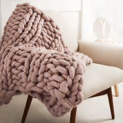 welcombe chunky hand knitted throw by lauren aston