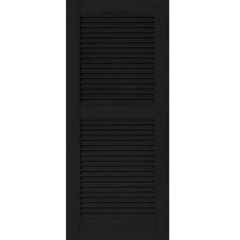 black shutter climateguard vinyl louvered shutters realistic wood grain