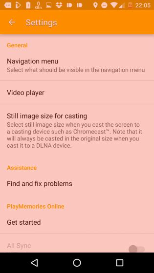 sensme apk album app update 7 4 a 1 22 adds cast support rotate options and more xperia