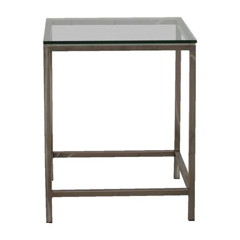 glass and chrome side table end tables used end tables for sale