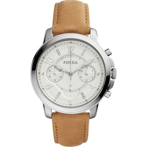 fossil idealist light brown leather watch fossil women s gwynn chronograph light brown leather watch