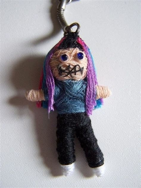 voodoo doll keychain   sew  fabric character charm