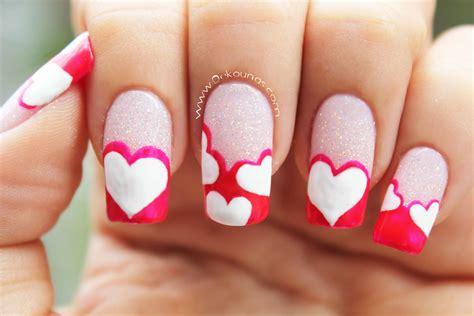 imagenes de uñas decoradas san valentin decoraci 243 n de u 241 as de corazones heart nail art youtube