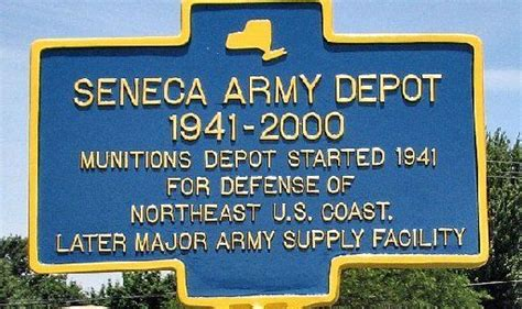 seneca army depot historical marker to be dedicated