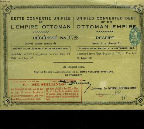 Fondateur De L Empire Ottoman by Archives Vieux Papiers Et Divers Titres Et Actions En