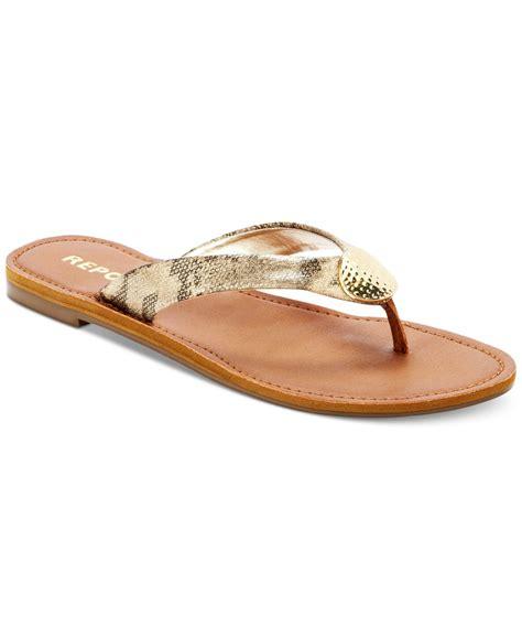 report flat shoes report shields flat sandals in metallic lyst