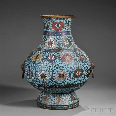 Large Cloisonne Vase by Large Cloisonne Hu Vase Sale Number 2751b Lot Number 75