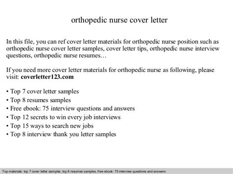 Orthopedic Cover Letter by Orthopedic Cover Letter